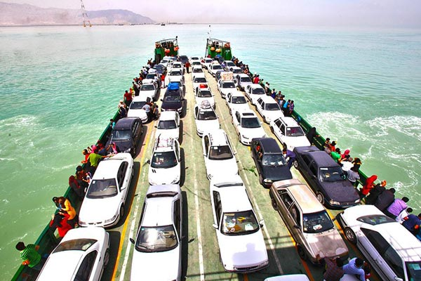 Car transport to the island