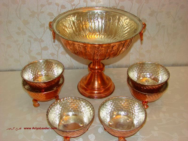 Copper Nut Set Dishes