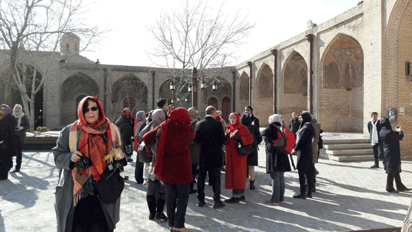 Tourists of Saadalsataneh Caravanserai