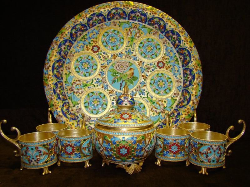 Isfahan Enamelware on gold