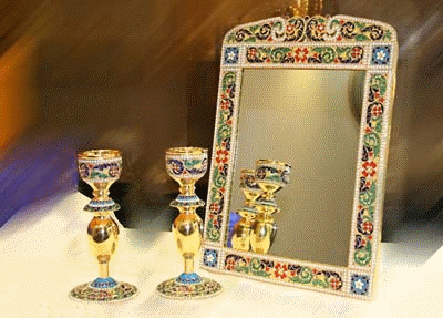 enamelware Mirror of esfahan