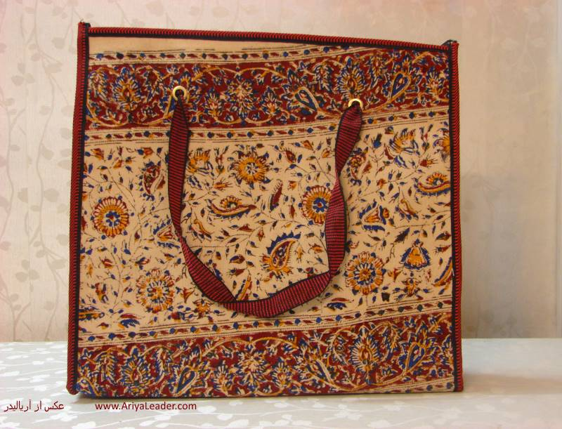 Handbag ghalamkar with zipper precious and valuable gift