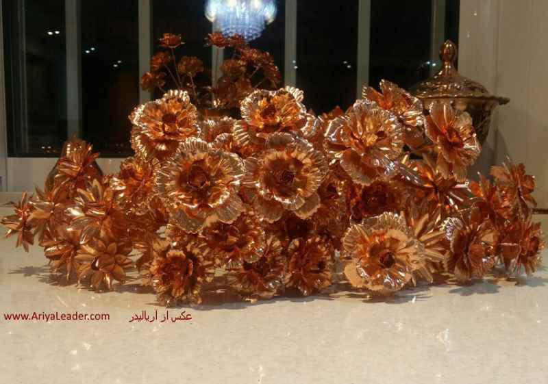 copper flower rose branch