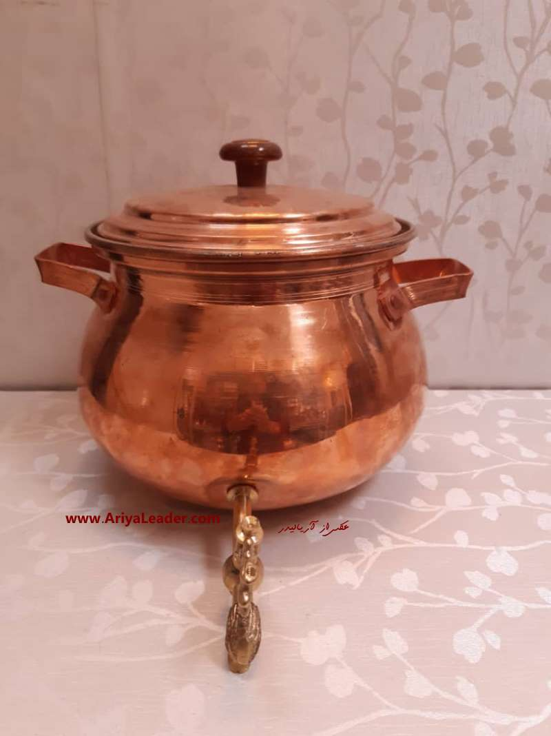 Copper kettle with faucet size big code 2081